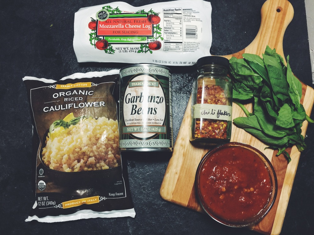 cauliflower pizza ingredients