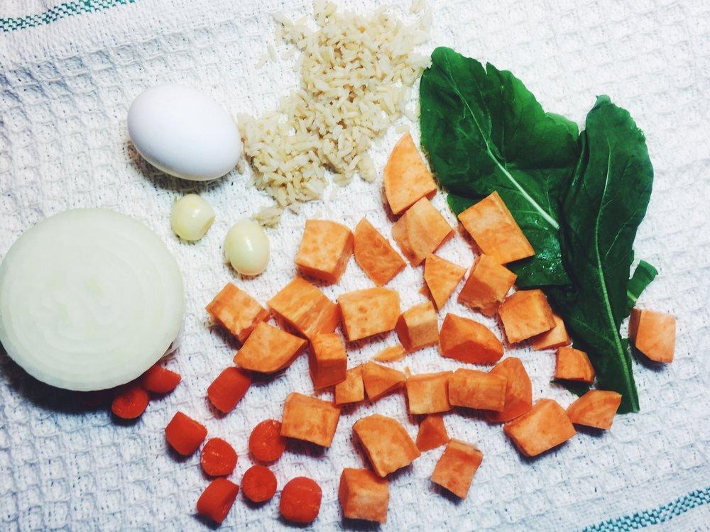 sweet potato fried rice ingredients