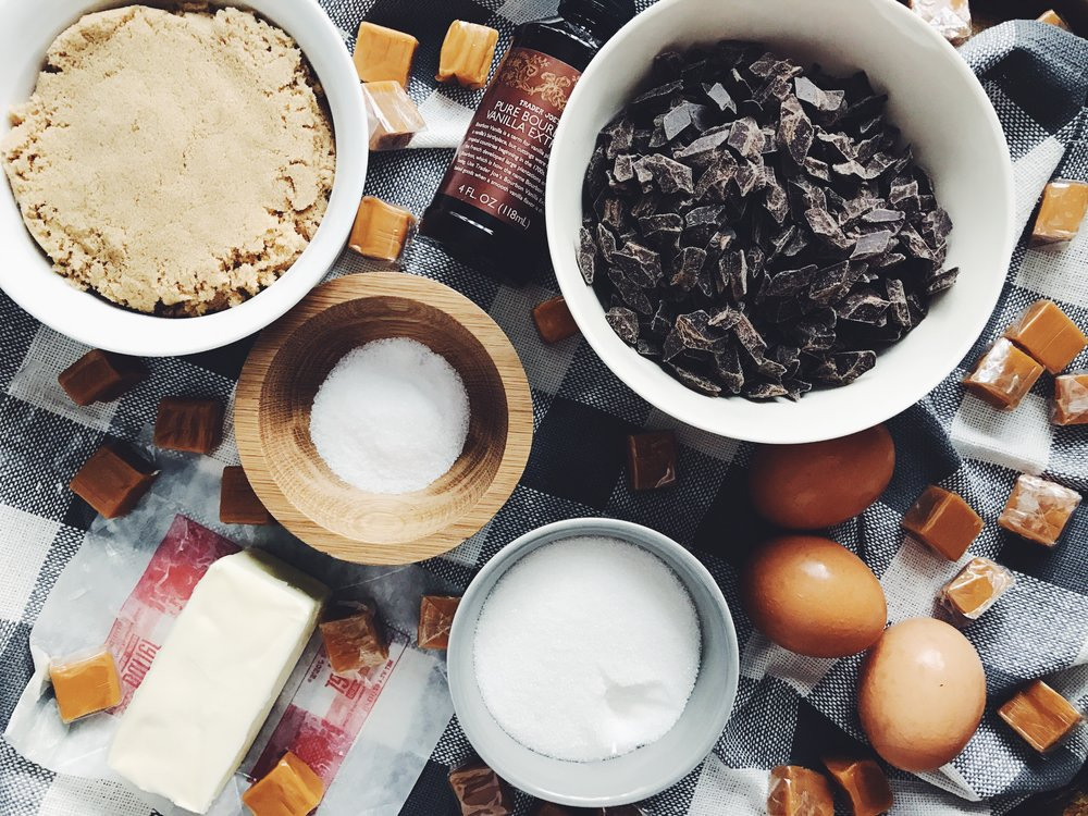 salted caramel chocolate chunk cookie ingredients