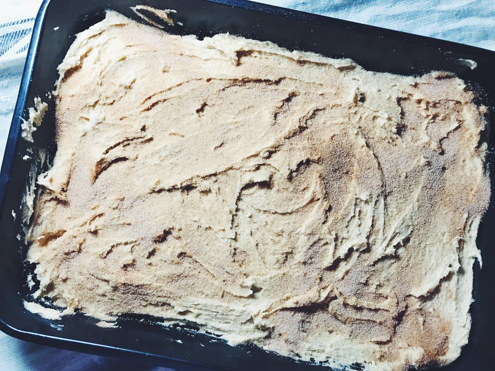 snickerdoodle blondie batter