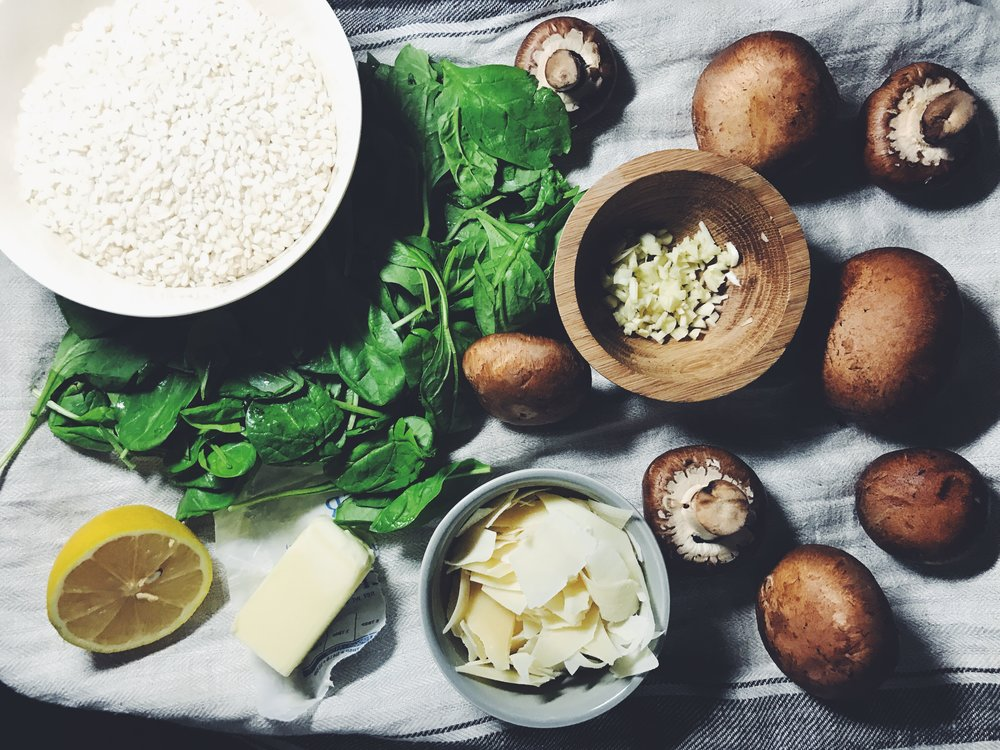 garlic butter mushroom risotto ingredients