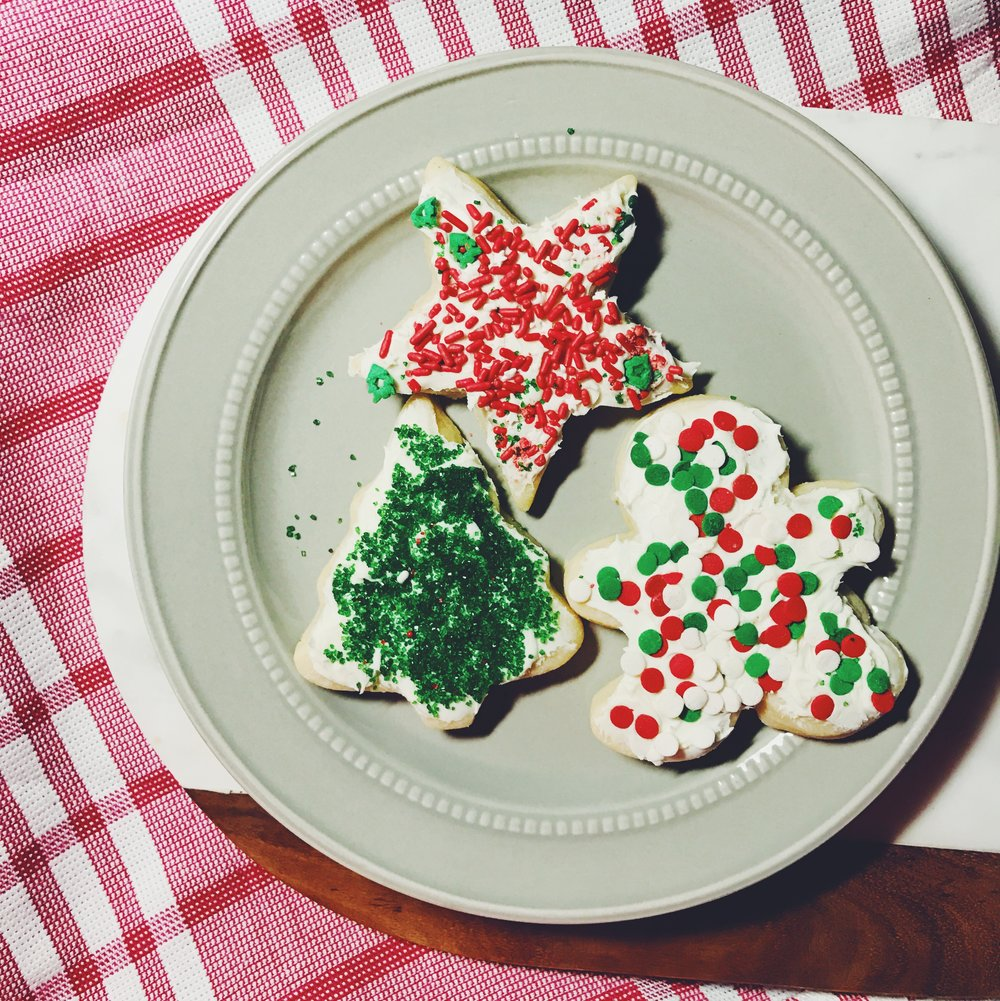 christmas holiday sugar cookies