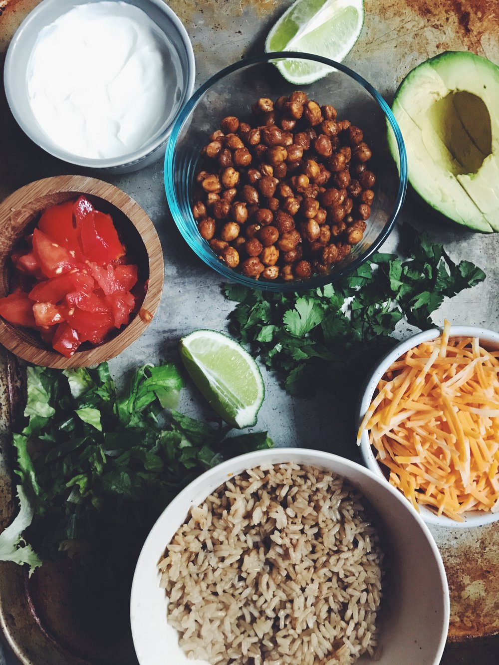 chickpea burrito bowl ingredients