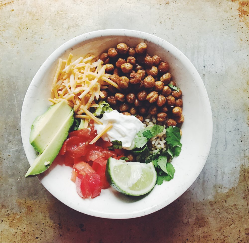 healthy spicy burrito bowls