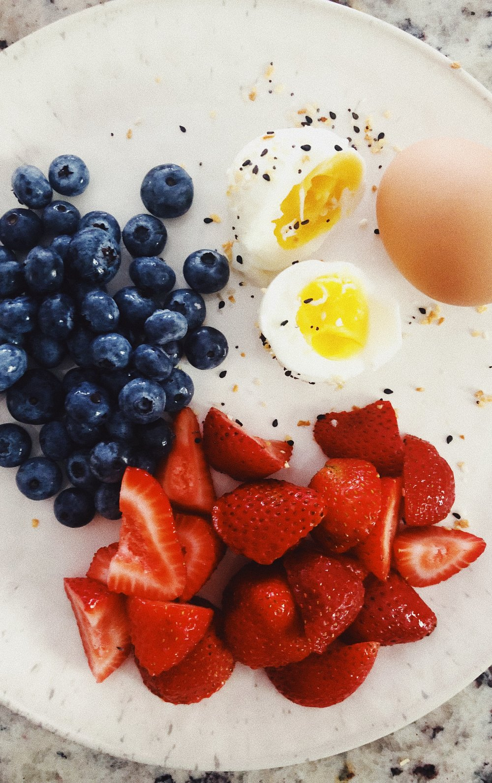 hardboiled eggs and fruit