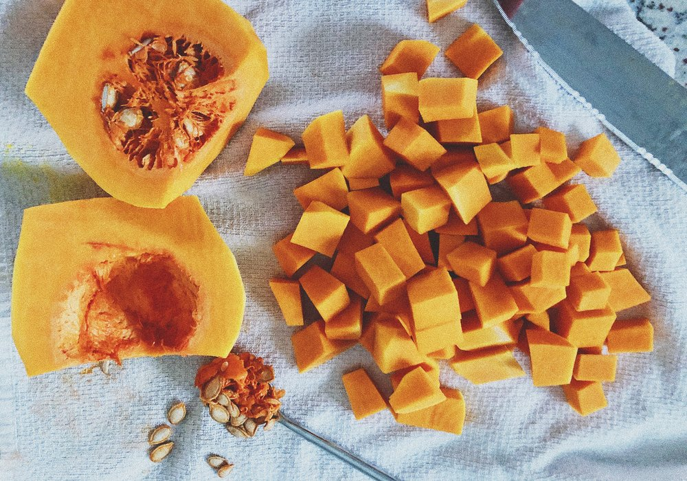 roasted butternut squash sweet potato soup