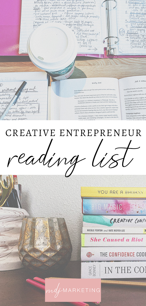 creative entrepreneur reading list // creative business books // books to read in your 20s