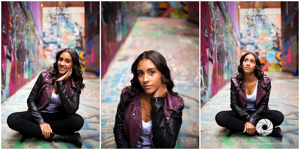 Ann Arbor Michigan │ Graffiti Alley │ Plymouth High School Senior │ Moon Reflections Photography