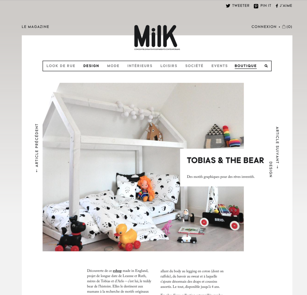 Milk features Tobias & The Bear