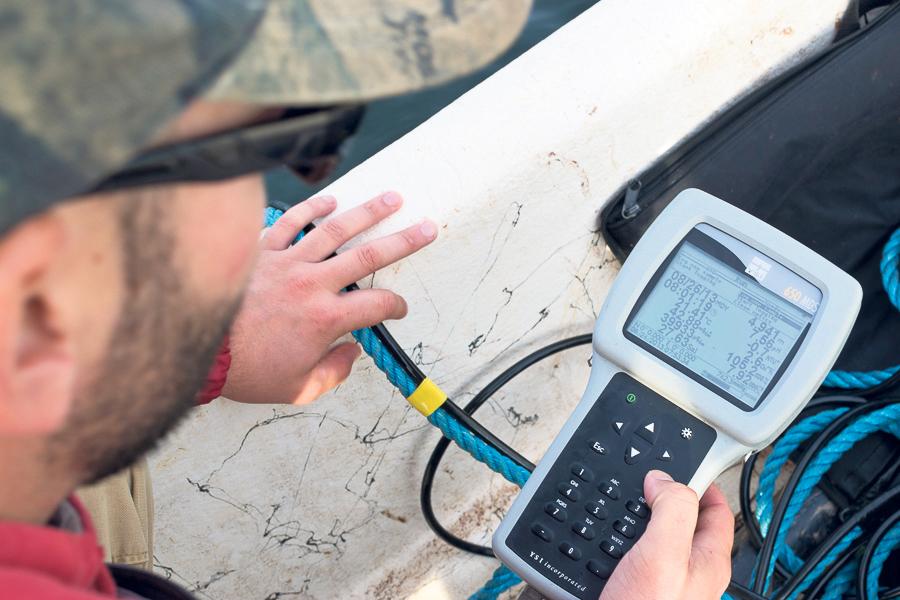 Tracking water quality.SEAN LANDSMAN