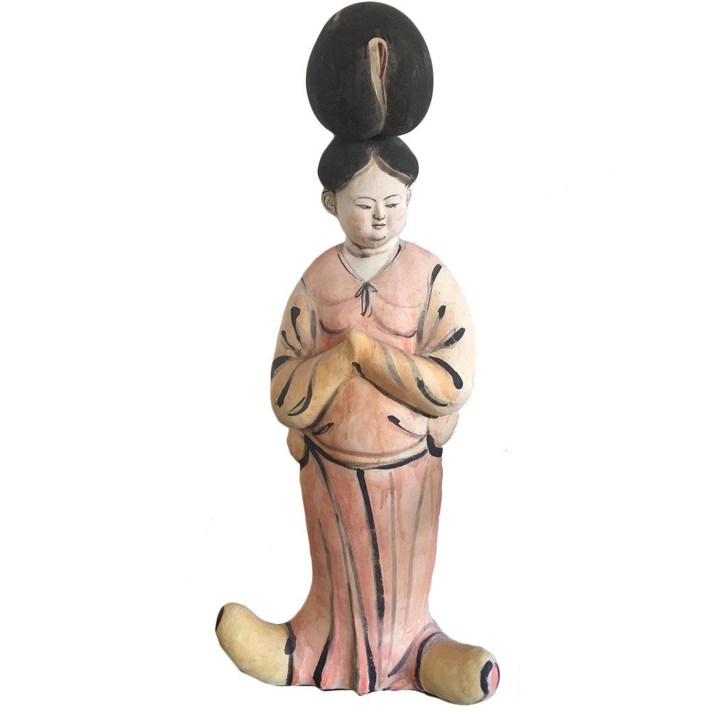"""Akio Takamori   Large Empress Figure  46 x 14 x 7"""""""