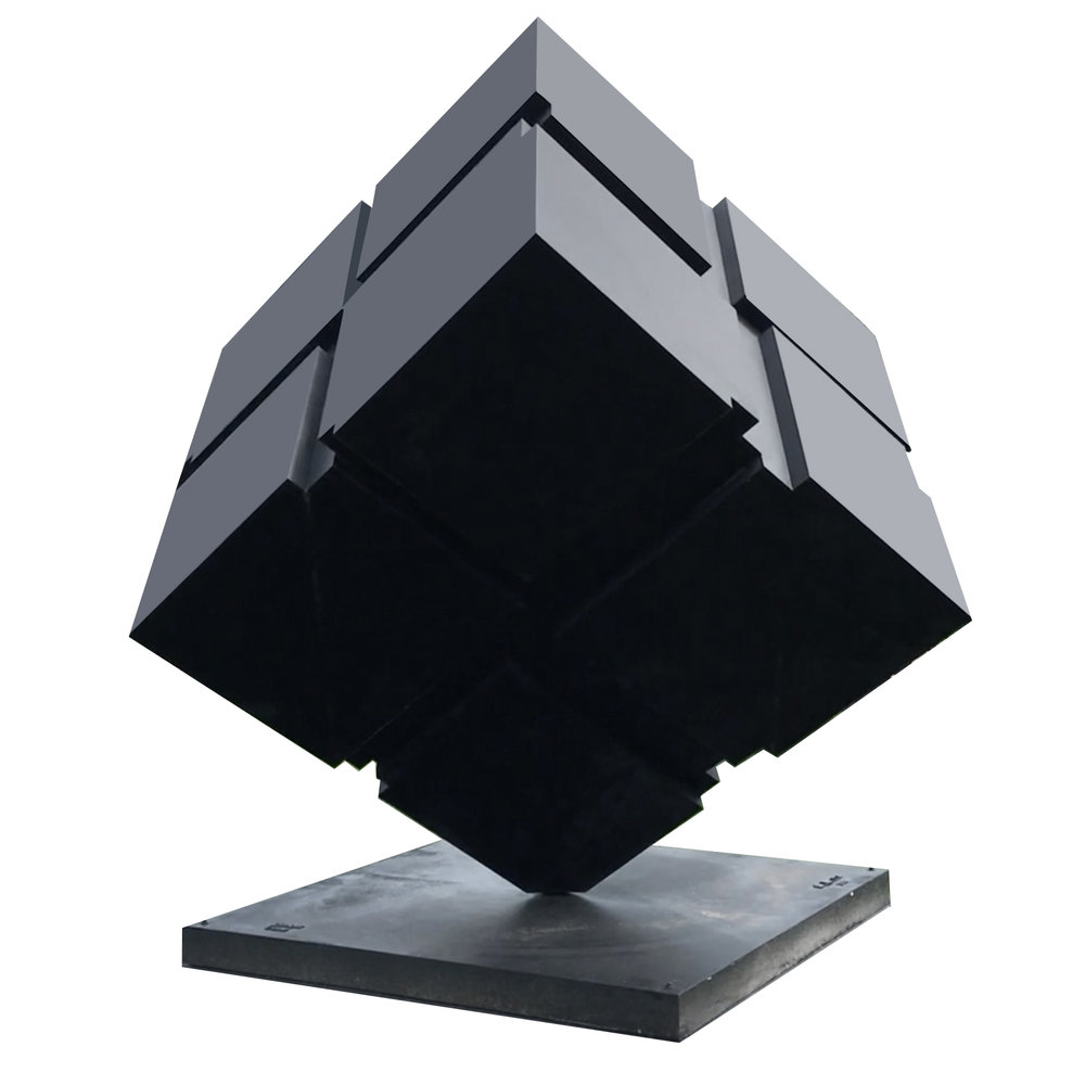 Tony Rosenthal   Rotating Cube Sculpture  14 ' 6""