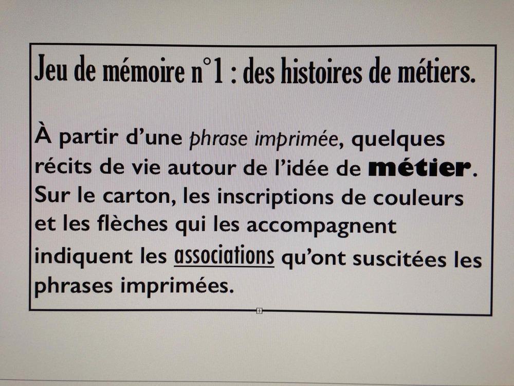 Jeux de mémoire (2014)