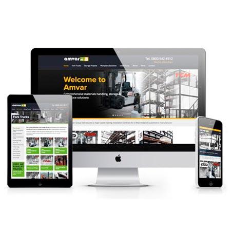 Amvar website design