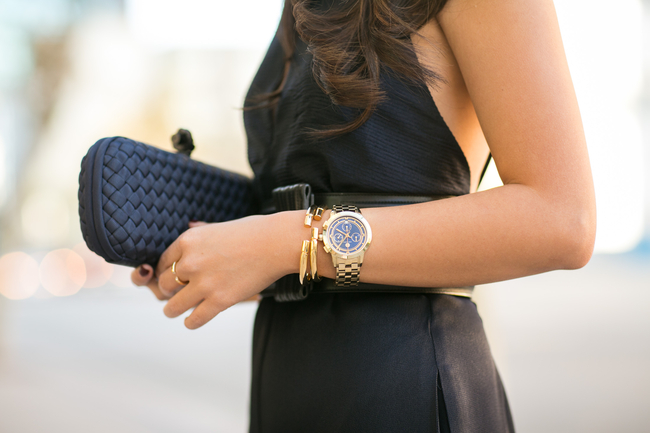 Wendy Nguyen of #wendyslookbook wearing Brandy Pham Cylinder Bracelets | #brandypham #jewelry