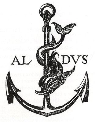 Aldus Manutius, printer's trademark, c.1500.