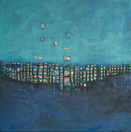 Blue City 36 X 36 (SOLD)