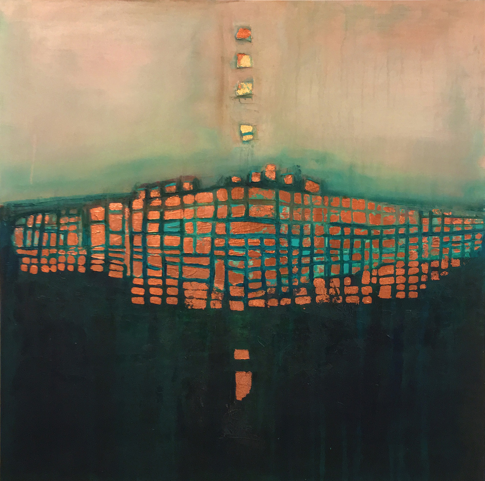 Copper Horizon 36 X 36 (SOLD)