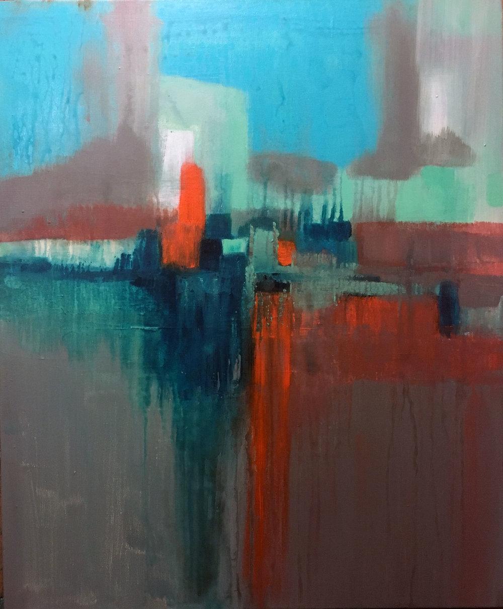 Parallel - 18 x 24 Acrylic, Mixed Media on canvas