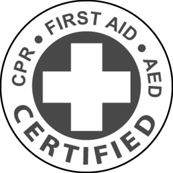 100% First Aid/CPR/AED trained workforce