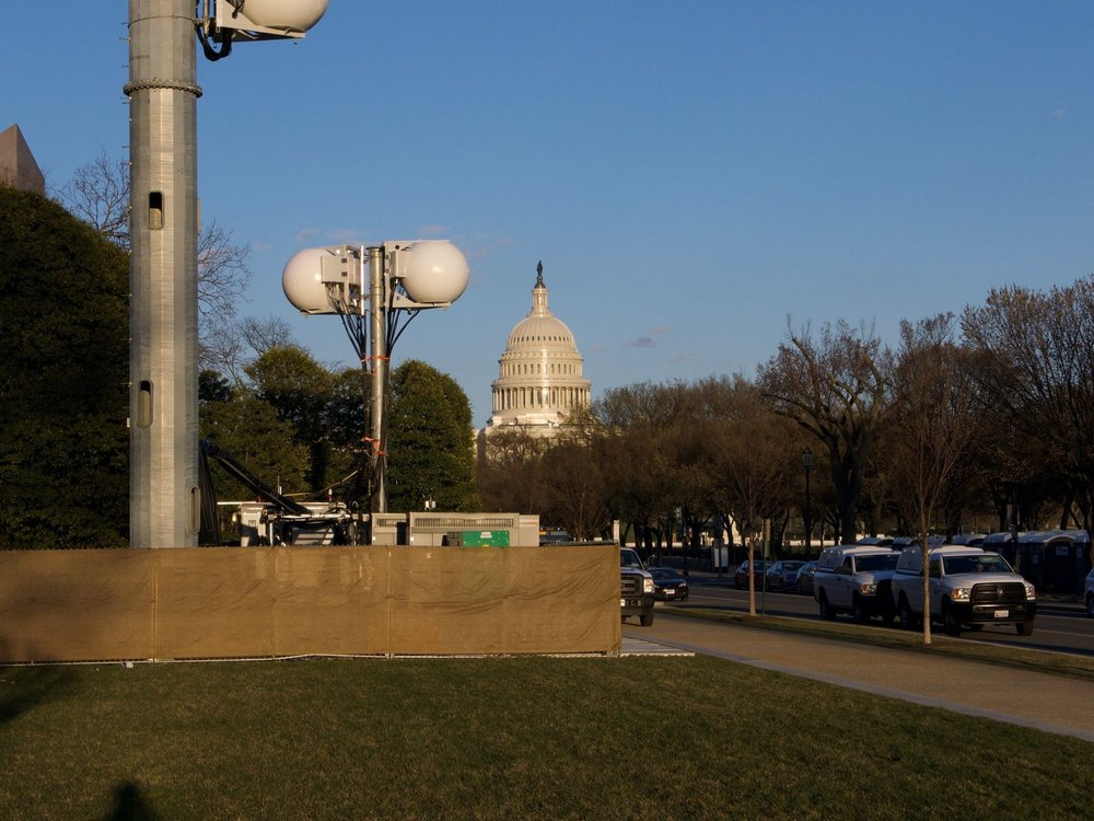 Design Telecom installed this COW (Cell on Wheels) to provide temporary mobile phone service during marches on Washington. -