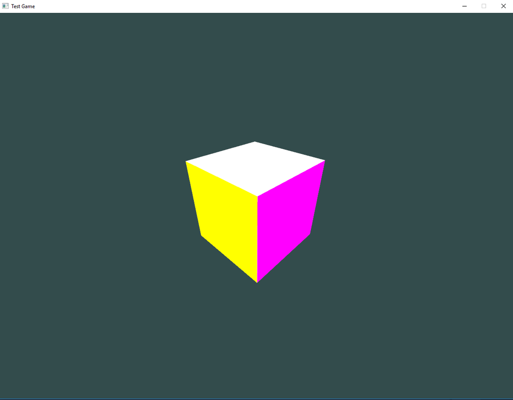 Got a cube generated with different colors for each side