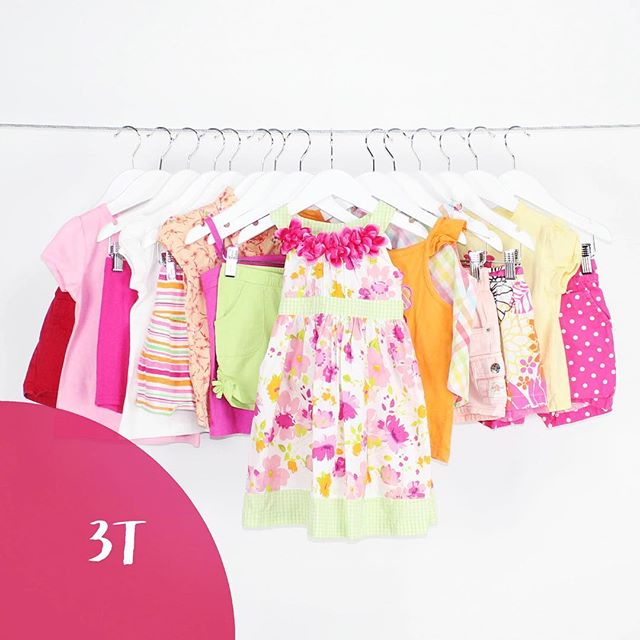 Girl 3T | 13 Pieces | $59.99 #flowers #pinks #pink #dresses #dress #sundress #polkadot #green #orange #brights #stripes #fun #girly #love #consignment #mommies #buythelot #bythelot #shoploteda