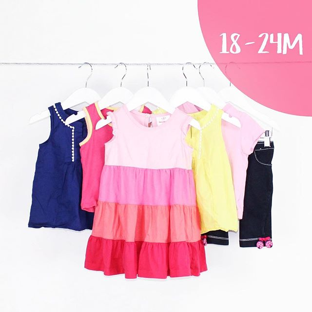 Baby Girl 18-24 Months | 4 Pieces | $15.99 #dress #colorblock #colorful #fun #brights #yellow #blue #pinks #carters #hannaandersson #jkhaki #talbotskids #consignment #mommies #buythelot #bythelot #shoploteda