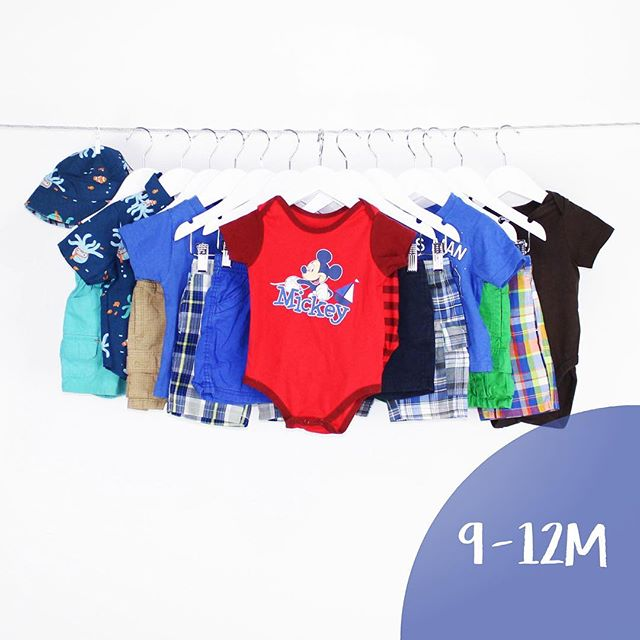 Baby Boy 9-12 Months | 15 Pieces | $36.99 #babyboy #onesie #shortsleeves #summer #warmweather #babygap #childrensplace #disney #gymboree #nautica #oldnavy #rocawear #smurf #mickeymouse #hat #shoploteda #bythelot #buythelot #mommies #consignment