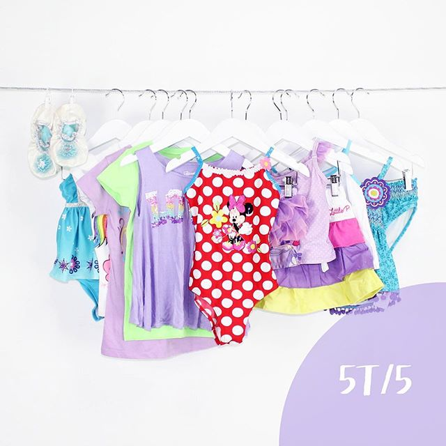 Girl 5T/5 | 15 Pieces | $49.99 #girls #summer #love #swimsuits #dresses #purple #minniemouse #girlclothes #clothes #shopLoteda #bythelot #buythelot #mommies #consignment