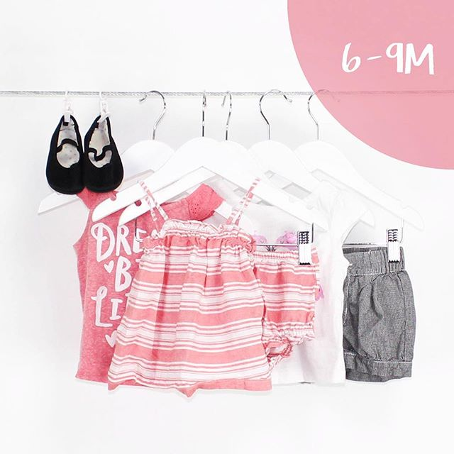Baby Girl 6-9 Months | 5 Pieces | $24.99 #nordstrom #h&m #oldnavy #pink #graphictees #love #outfits #lots #fun #girly #summer #shopnow #consignment #mommies #buythelot #bythelot #shopLoteda