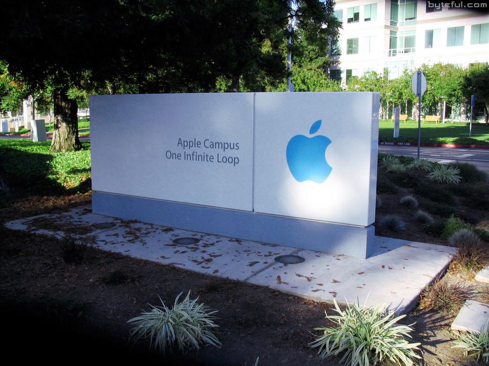 Apple Campus - 1 Infinite Loop sign