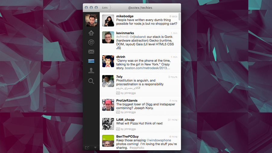 twitter for mac 2013