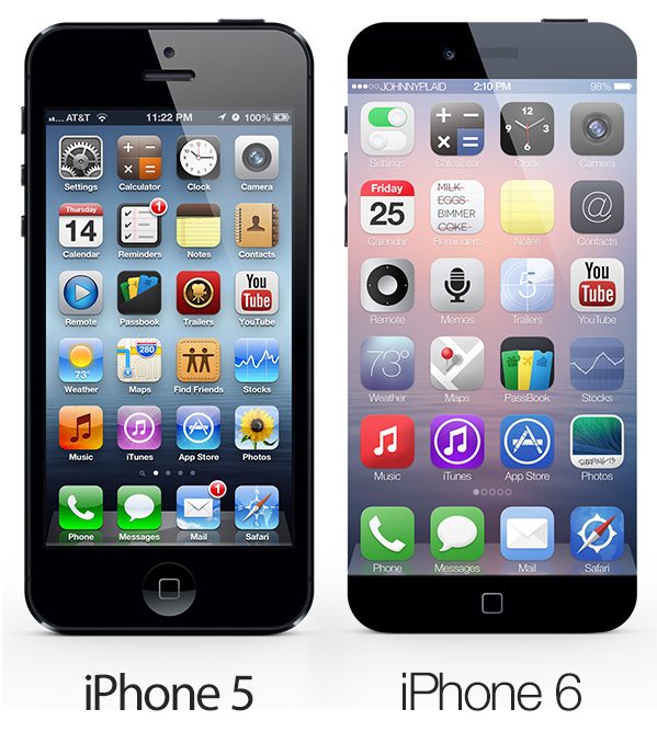 iphone 5 iphone 6 concept