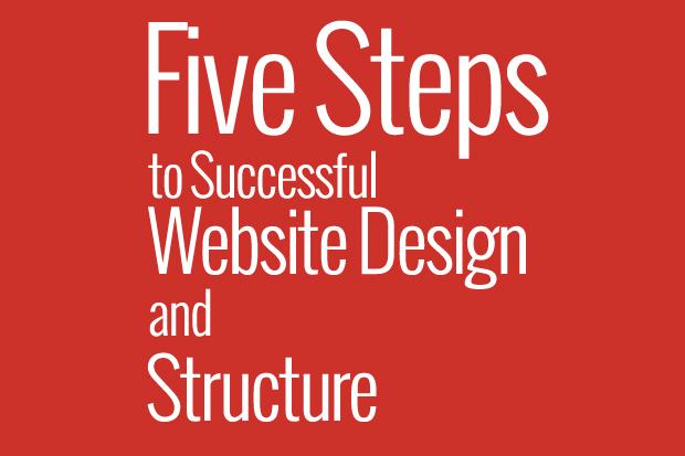 five steps design website structure