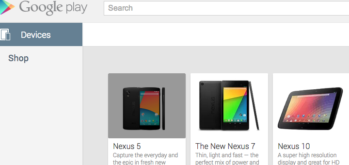 nexus 5 google play