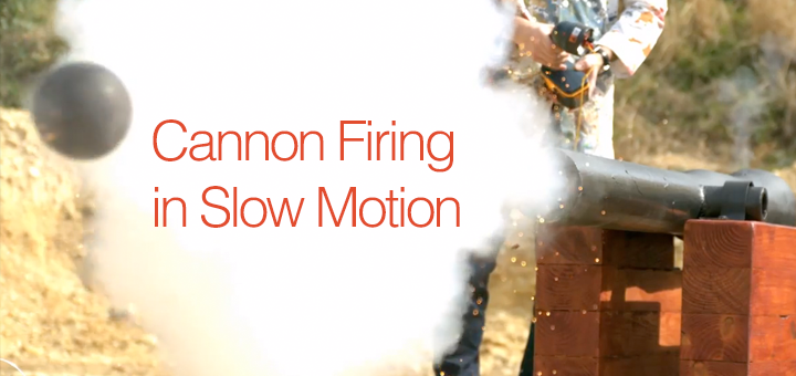 cannon slow motion