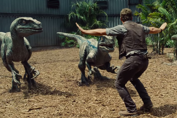 jurassic world training raptors