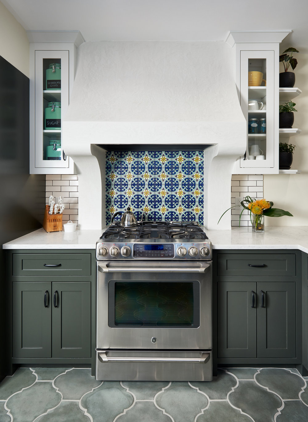 Custom tile in kitchen designed by NewStudio Architecture