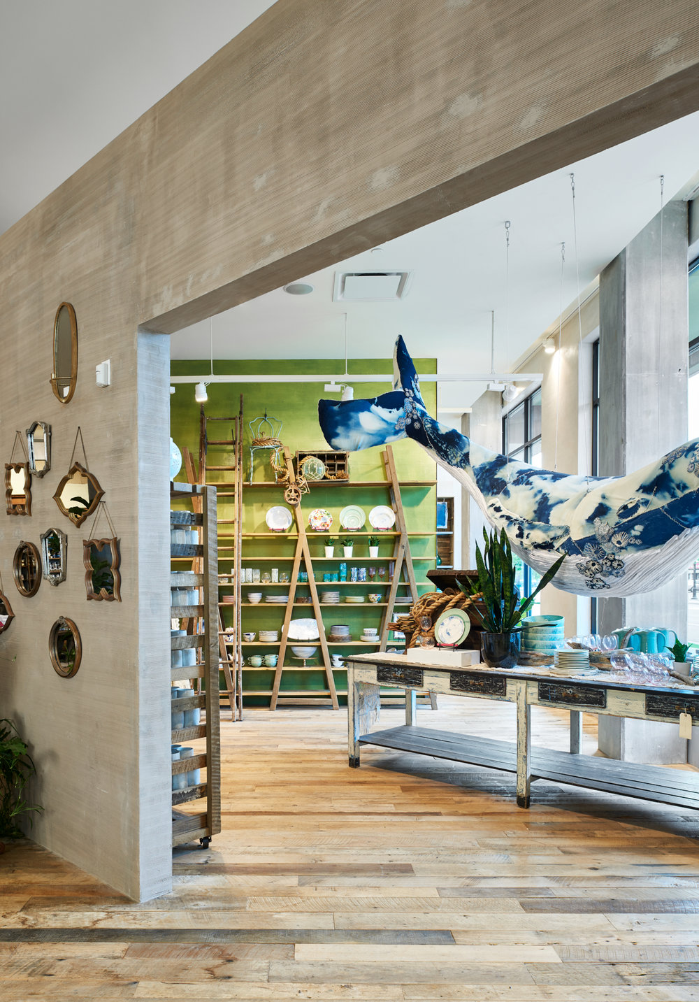 Spacious interior design of Anthropologie in Wayzata, Minnesota, created in collaboration with NewStudio Architecture