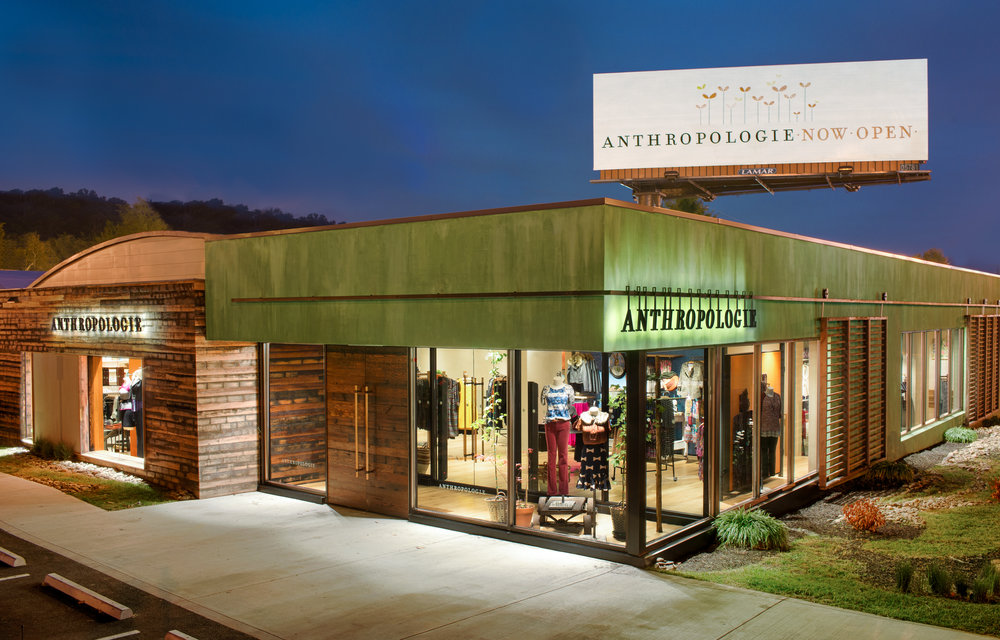 NewStudio Architecture collaborated on the adaptive reuse project for Anthropologie in Knoxville