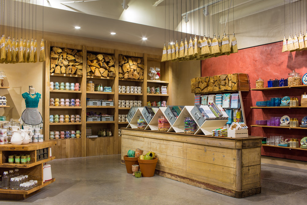 Interior retail display at Anthropologie in Knoxville, created in collaboration with NewStudio Architecture
