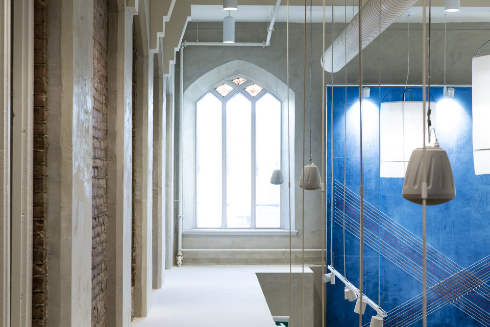 Adaptive reuse of a historic church in Toronto creates a unique shopping experience at Anthropologie