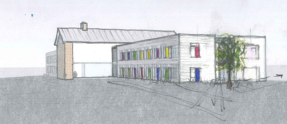 NewStudio Architecture initial sketch for SCH Academy Lower School
