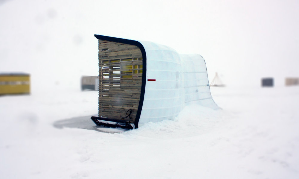 Snowdrift-inspired art shanty designed by NewStudio Architecture