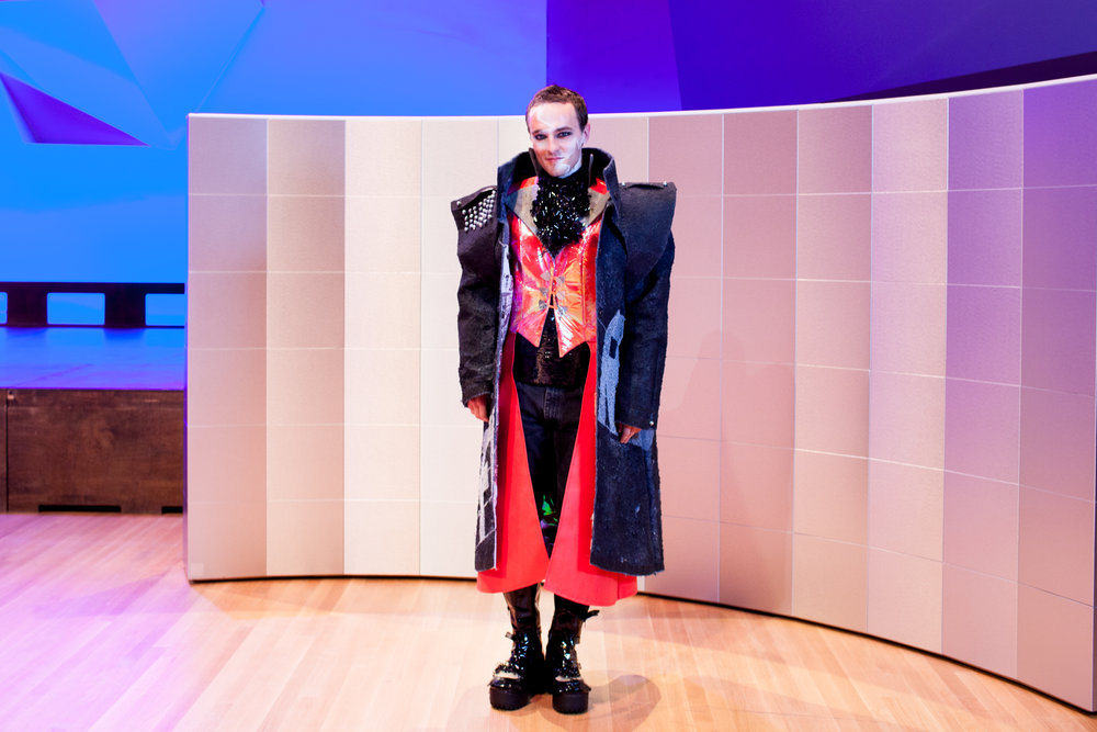 NewStudio Architecture used floor underlayment in the jacket for the entry in the IIDA Fusion + Fashion fundraiser