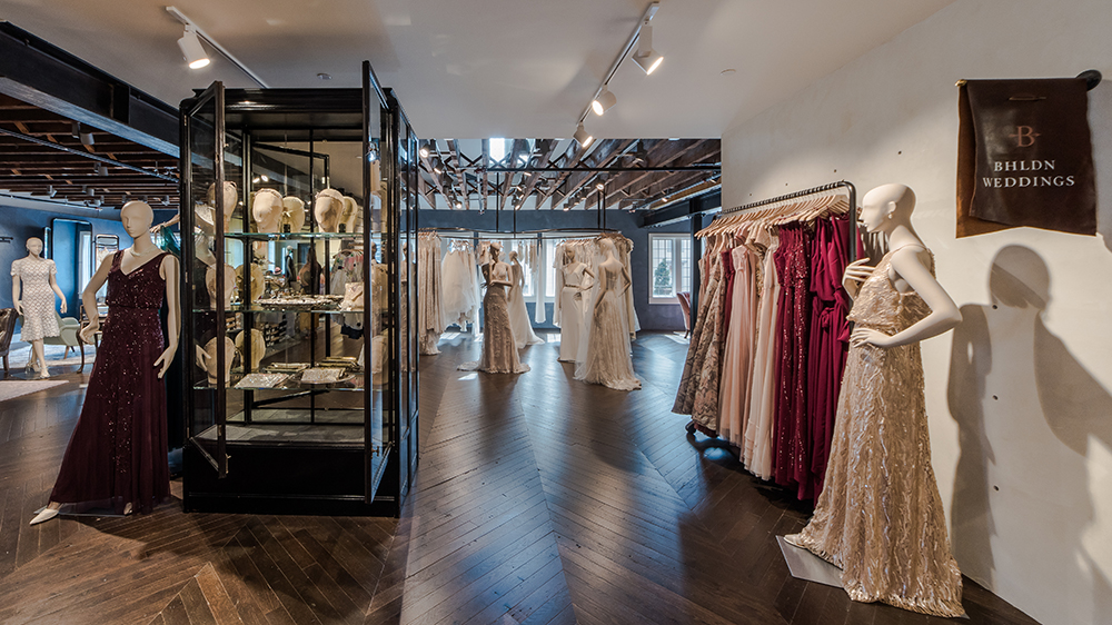 BHLDN wedding department interior displays at Anthropologie & Co. at Bedford Square