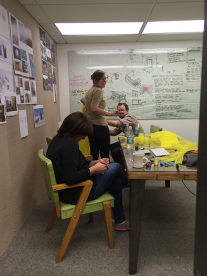 NewStudio Architecture staff collaborate on the entry for the IIDA Fusion + Fashion fundraiser