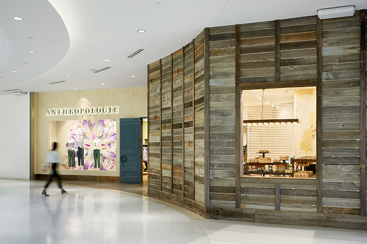 Anthropologie store exterior, inside Mall of America, created in collaboration with NewStudio Architecture