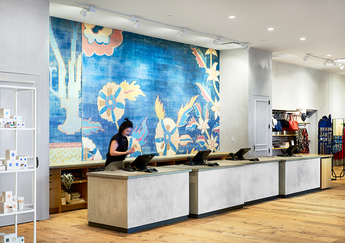 Spacious check-out area at Anthropologie in Mall of America, created in collaboration with NewStudio Architecture